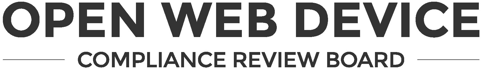 Open Web Device Compliance Review Board